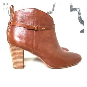 Lucky Brand Cognac leather bootie